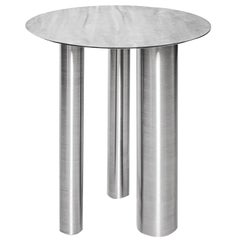 Stainless Steel Brandt High Coffee Table by Noom