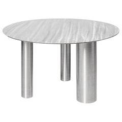 Stainless Steel Brandt Low Coffee Table by NOOM