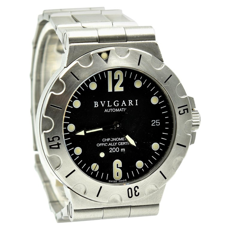 the best attitude 8c1a9 9124d Stainless Steel Bvlgari Scuba Automatic Watch SD 38 S For ...