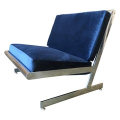 Stainless Steel Cantilevered Lounge Chair