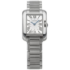 Stainless Steel Cartier Tank Anglaise Pre-Owned Watch
