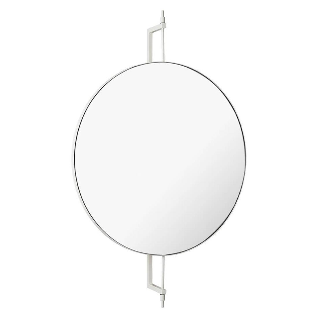 Stainless Steel Circle Rotating Mirror by Kristina Dam Studio