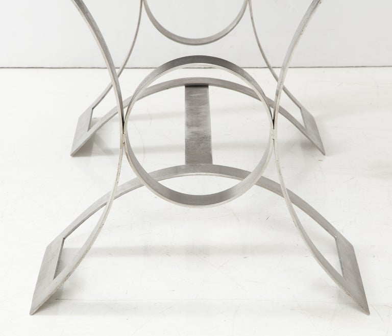 Stainless Steel Desk, France, 1970s For Sale 5