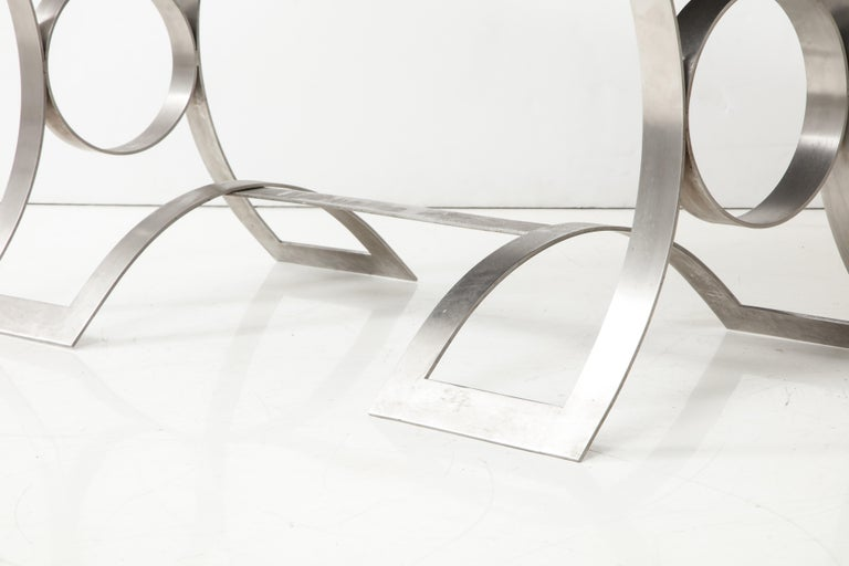 Stainless Steel Desk, France, 1970s For Sale 7