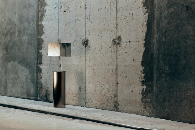 Slovenian Stainless Steel Floating Lamp by Brajak Vitberg For Sale