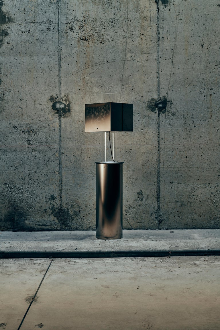 Contemporary Stainless Steel Floating Lamp by Brajak Vitberg For Sale