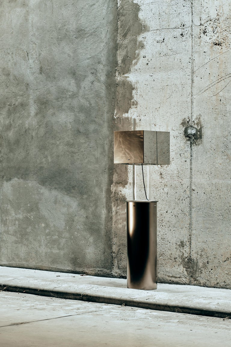 Stainless Steel Floating Lamp by Brajak Vitberg For Sale 1