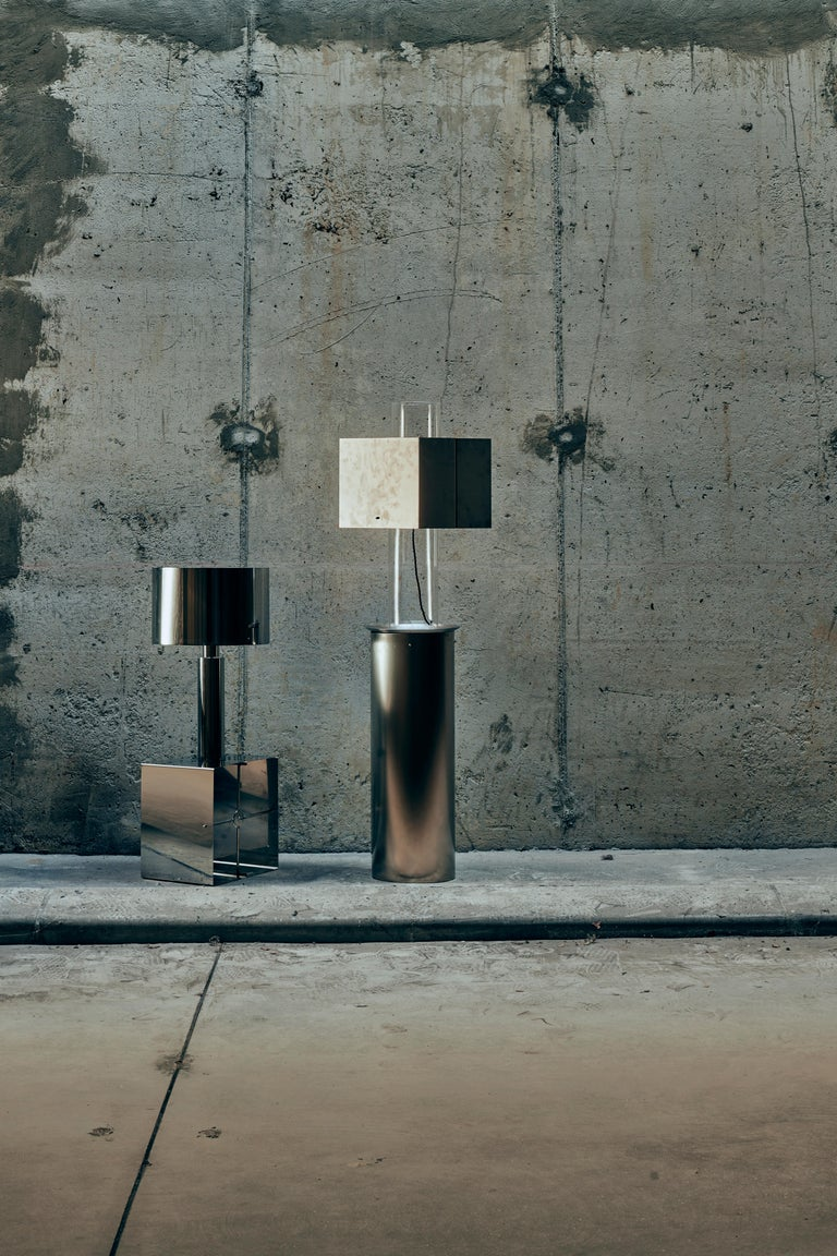 Stainless Steel Floating Lamp by Brajak Vitberg For Sale 2