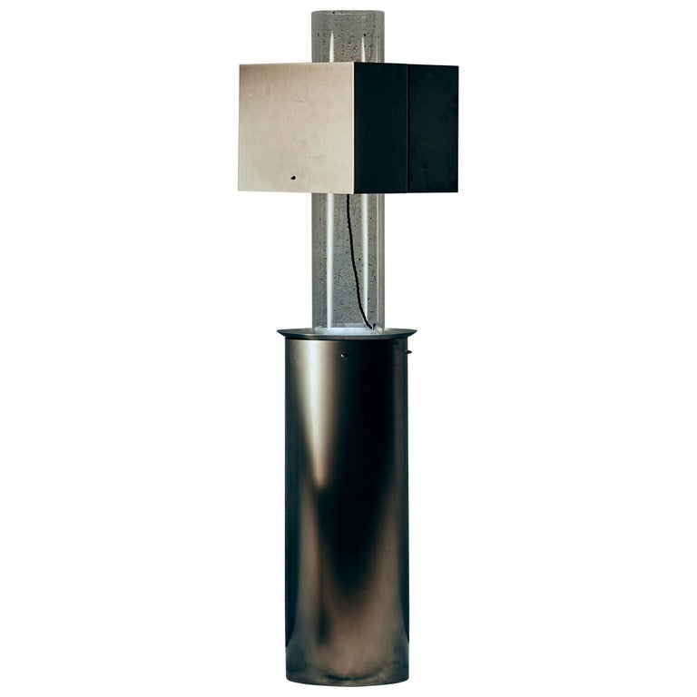 Stainless Steel Floating Lamp by Brajak Vitberg For Sale