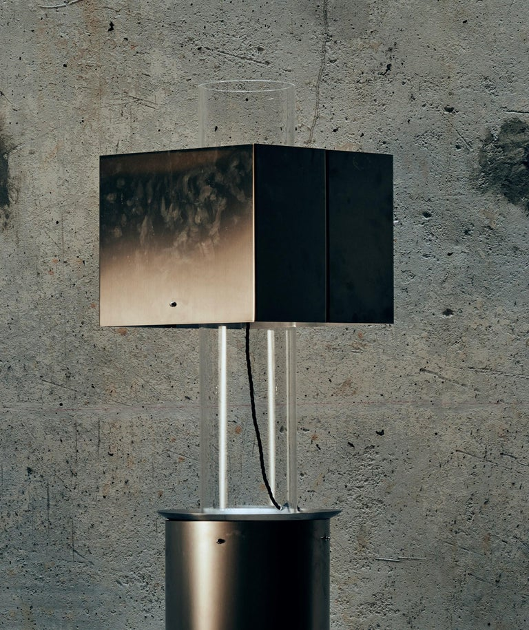 Stainless steel floating lamp by Brajak Vitberg