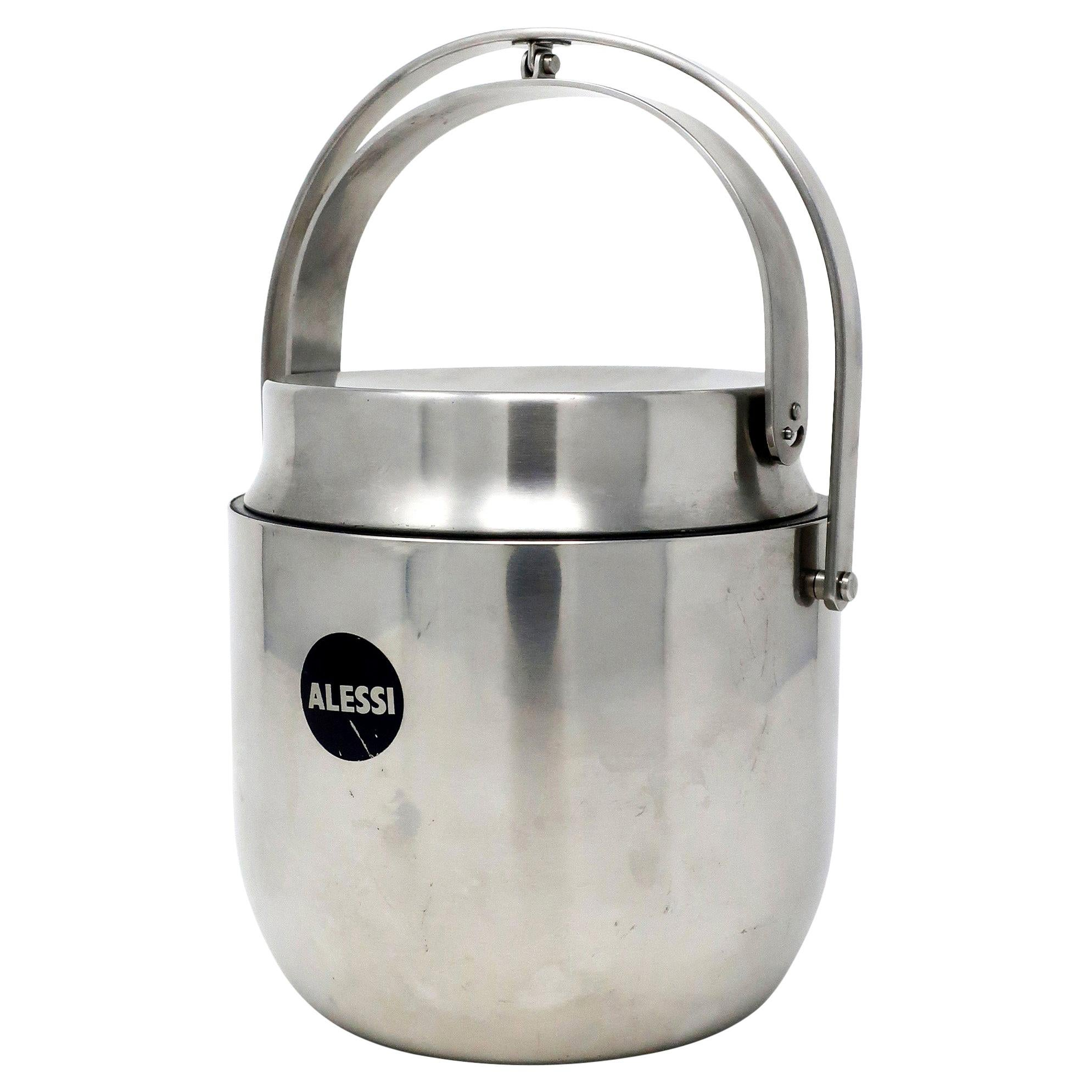Stainless Steel Ice Bucket by Carlo Mazzeri for Alessi