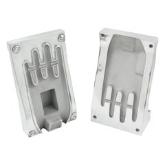 Stainless Steel Industrial Hand Glove Mold Sculpture Bookends, a Pair