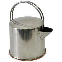 Stainless Steel Modernist Tea Pot Ole Palsby X-Form Design, Denmark