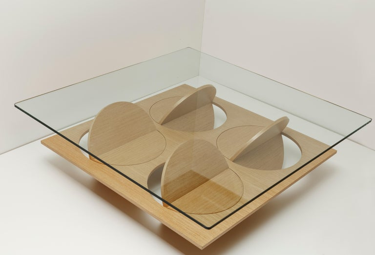 Venezuelan Stainless Steel Moonsky Coffee Table by Ana Volante Studio For Sale
