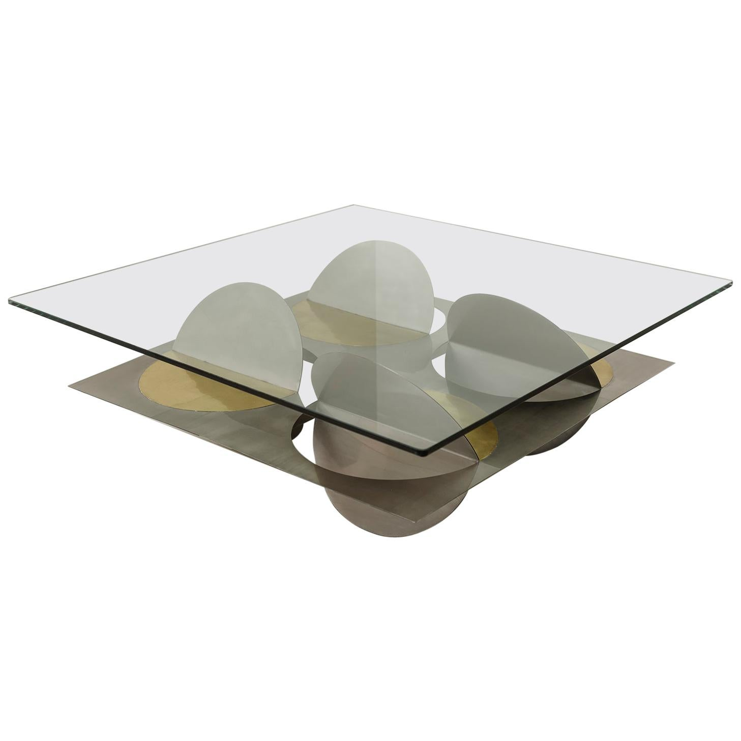 Stainless Steel Moonsky Coffee Table by Ana Volante Studio