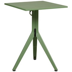 Stainless Steel N Table in Rosemary Green by Patrick Norguet & Tolix
