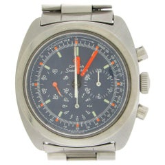 Stainless Steel Omega 1970s Seamaster Chronograph Blue Dial
