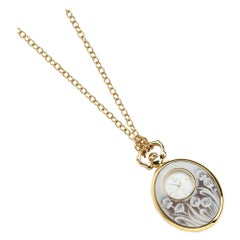 Stainless Steel Pendant Watch with Sea Shell Cameos PVD Treated