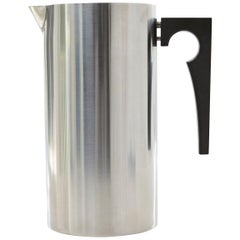 Stainless Steel Pitcher with Ice Lip, Cylinda Line by Arne Jacobsen for Stelton