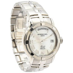 Stainless Steel Raymond Weil Parsifal Watch 2844 Mother-of-Pearl