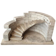Staircase Model in Plaster, France, 19th Century