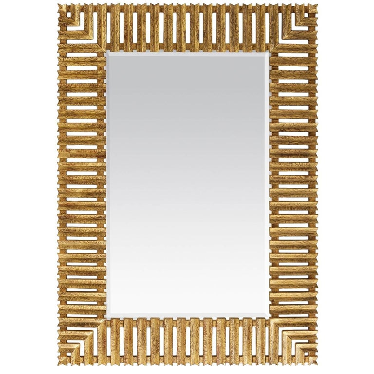 Stairs Mirror in Antique Gold Painting Finish
