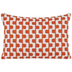 Stairstep Pillow in Orange and White by CuratedKravet