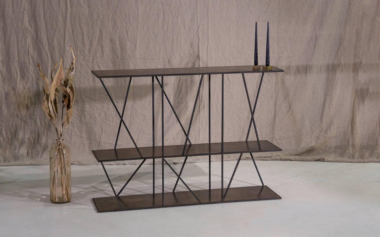 Patinated Staiths Console Table by Novocastrian For Sale