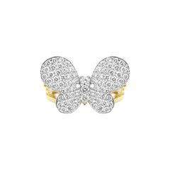 Stambolian Butterfly Ring Two-Tone Gold and Diamond