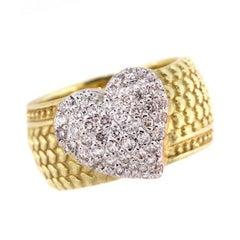 Stambolian Diamond Gold Heart Ring