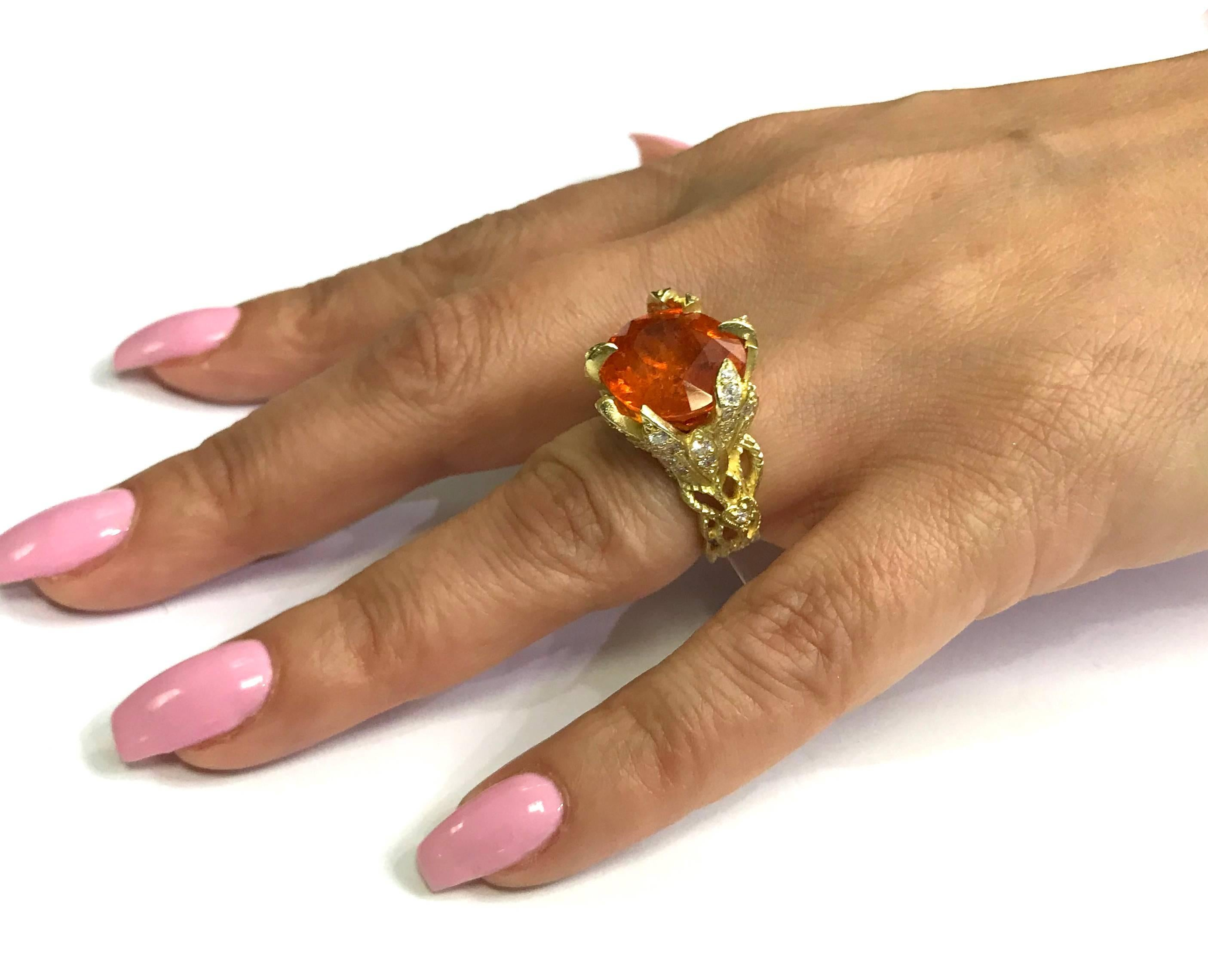 shop garnered jewellery macgill mary ring women the rings mandarin diamond cognac