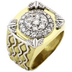 Stambolian Yellow Gold and Diamond Men's Ring
