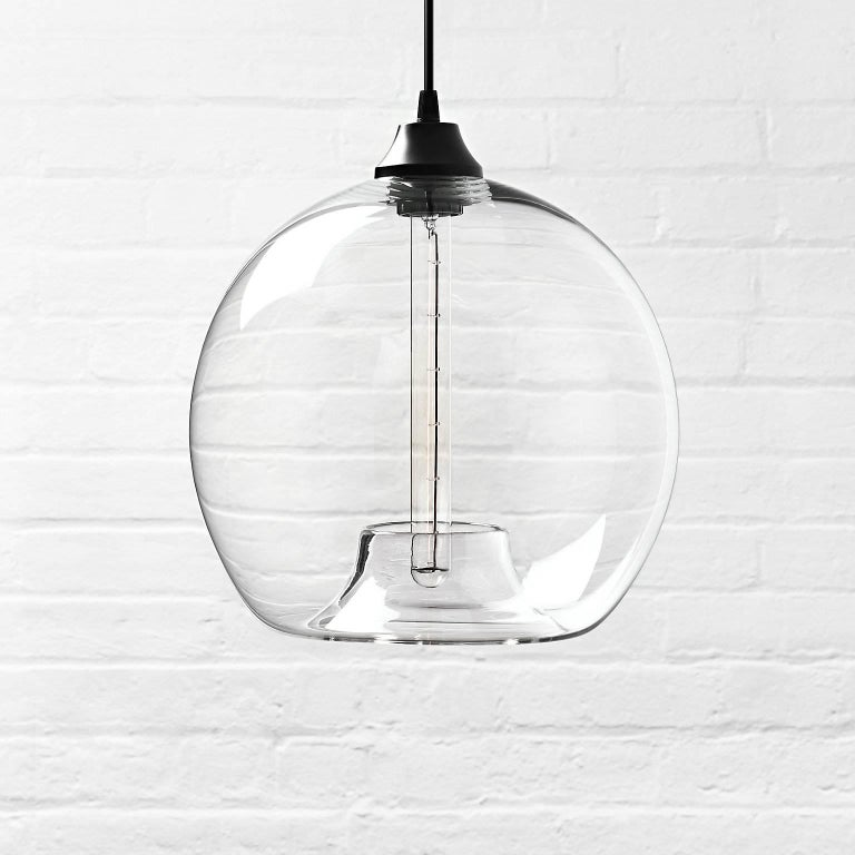Stamen Crystal Handblown Modern Glass Pendant Light, Made in the USA For Sale 2