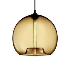 Stamen Smoke Handblown Modern Glass Pendant Light, Made in the USA