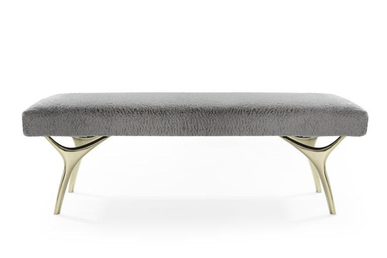 Mid-Century Modern Stamford Modern's Crescent Bench For Sale