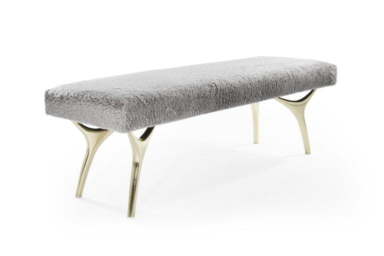 Polished Stamford Modern's Crescent Bench For Sale