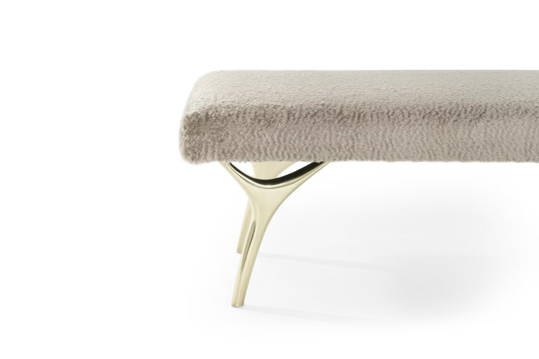 Stamford Modern's Crescent Bench In Excellent Condition For Sale In Stamford, CT