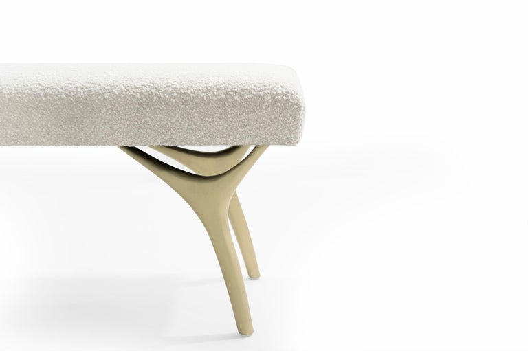 Contemporary Stamford Modern's Crescent Bench in Bouclé For Sale