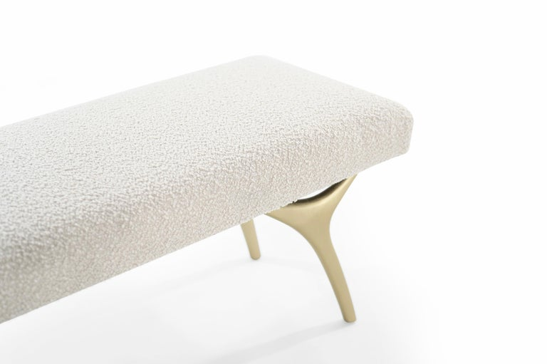Stamford Modern's Crescent Bench in Bouclé For Sale 1