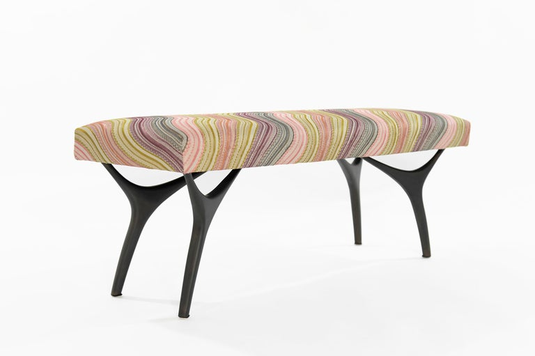 American Stamford Modern's Crescent Bench in Bronze For Sale
