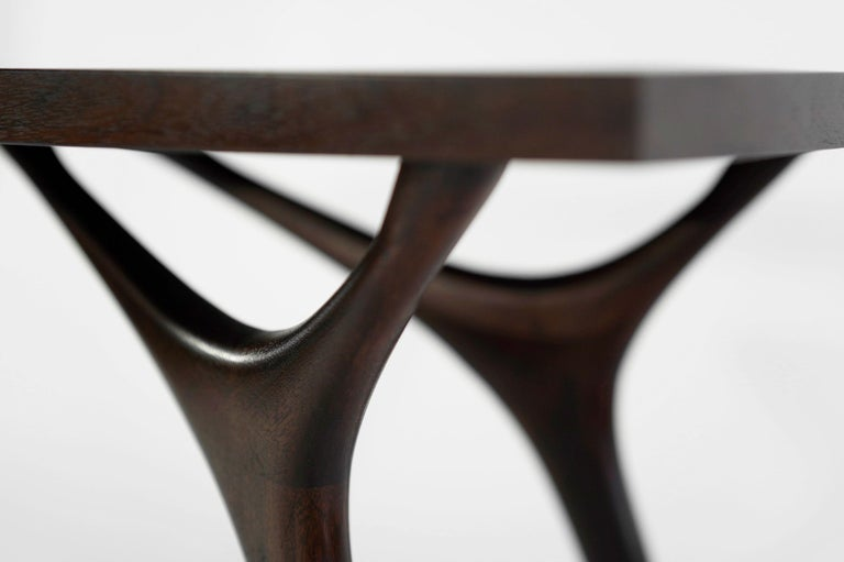 Stamford Modern's Crescent Console Table in Mahogany For Sale 4