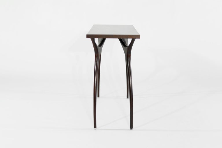 Mid-Century Modern Stamford Modern's Crescent Console Table in Mahogany For Sale