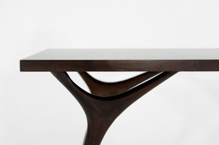 Contemporary Stamford Modern's Crescent Console Table in Mahogany For Sale