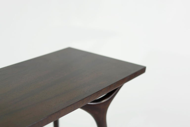 Stamford Modern's Crescent Console Table in Mahogany For Sale 1