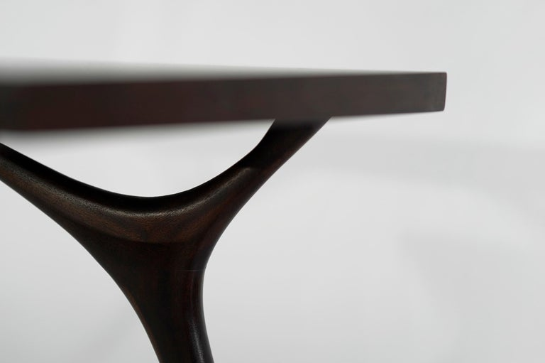 Stamford Modern's Crescent Console Table in Mahogany For Sale 2