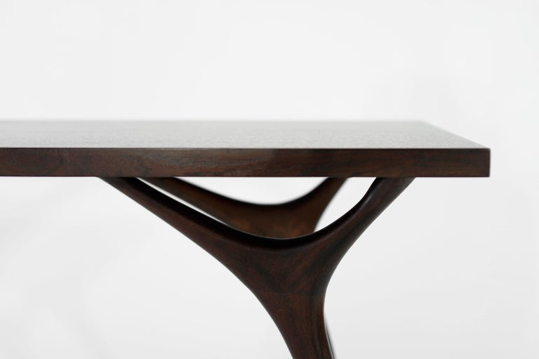 Stamford Modern's Crescent Console Table in Mahogany For Sale 3