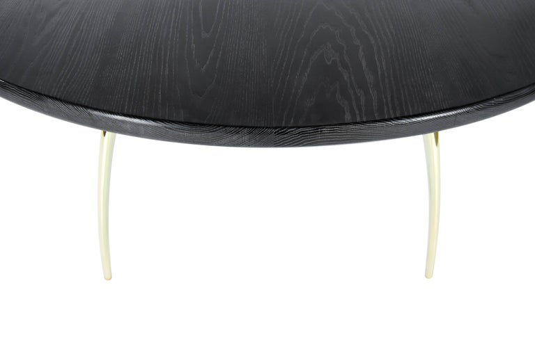 Stamford Modern's Crescent Dining Table in Limed Oak In New Condition For Sale In Stamford, CT