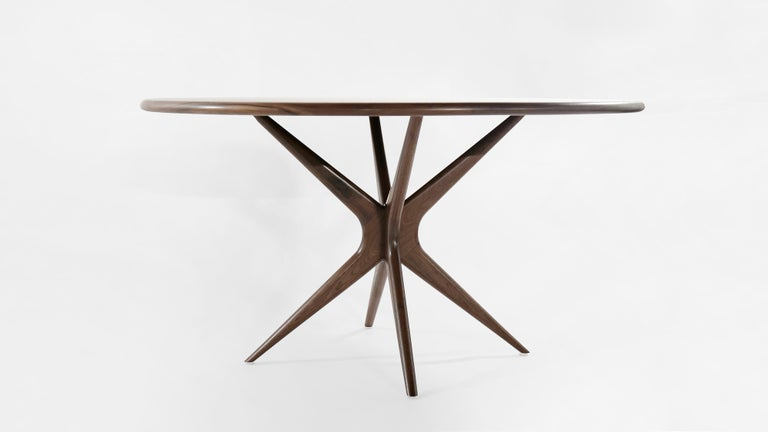 American Stamford Modern's Gazelle Dining Table in Walnut For Sale