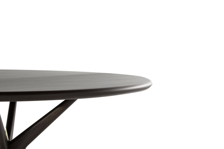 Stamford Modern's Gazelle Dining Table in Espresso Walnut In New Condition For Sale In Stamford, CT