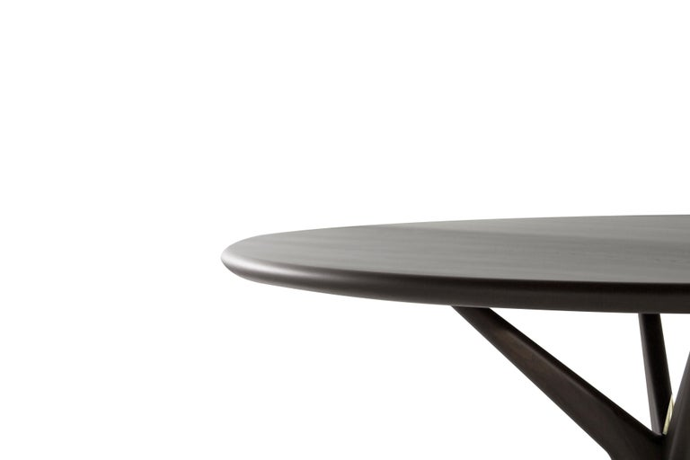 Contemporary Stamford Modern's Gazelle Dining Table in Espresso Walnut For Sale